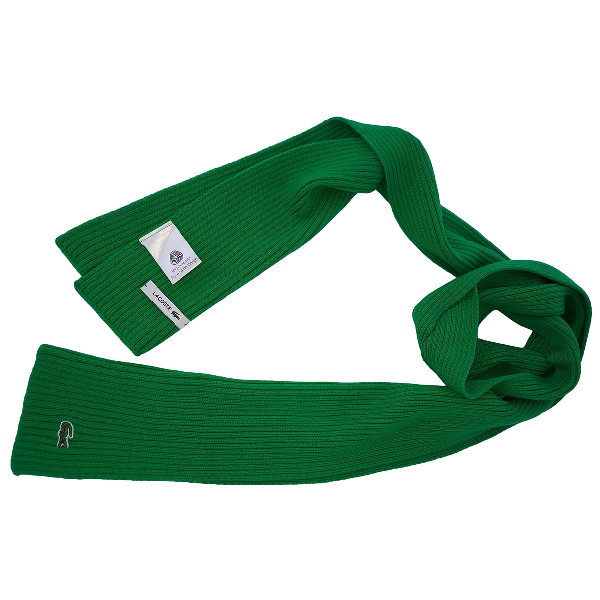 Lacoste Green Wool Scarf & Pocket Squares