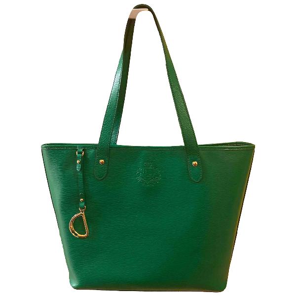 Lauren Ralph Lauren Green Leather Handbag