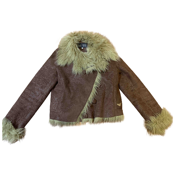 Armani Jeans Brown Faux Fur Jacket
