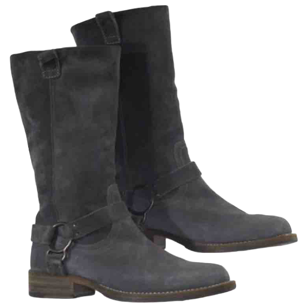 Brunello Cucinelli Anthracite Suede Boots