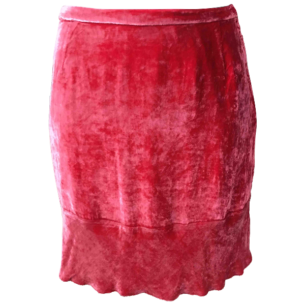 Miu Miu Pink Silk Skirt