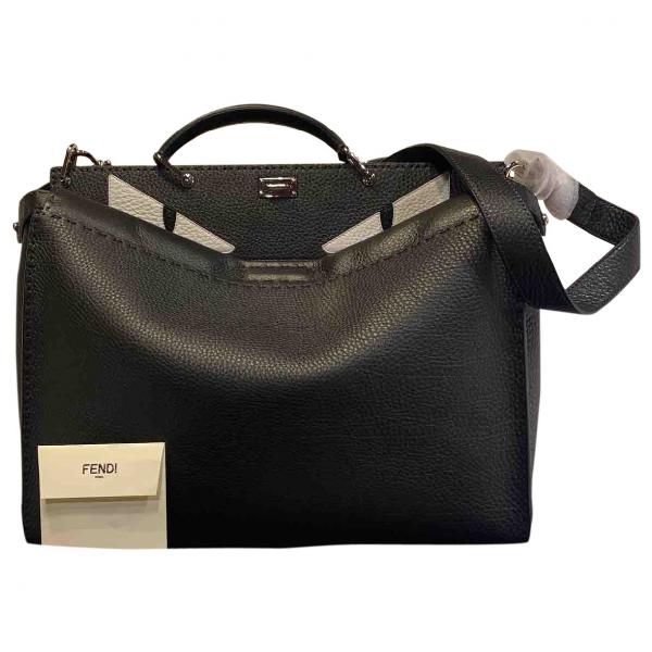 Fendi Peekaboo Black Leather Handbag