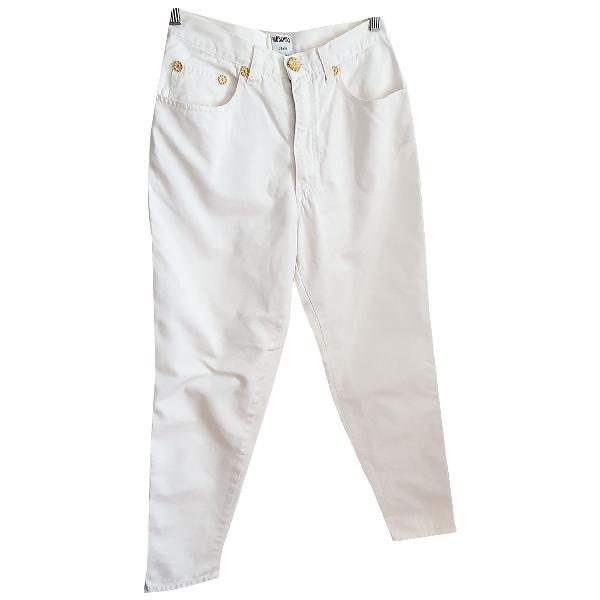 Moschino White Cotton Jeans