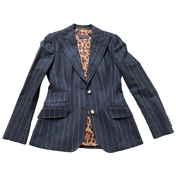 Dolce & Gabbana Grey Wool Jacket