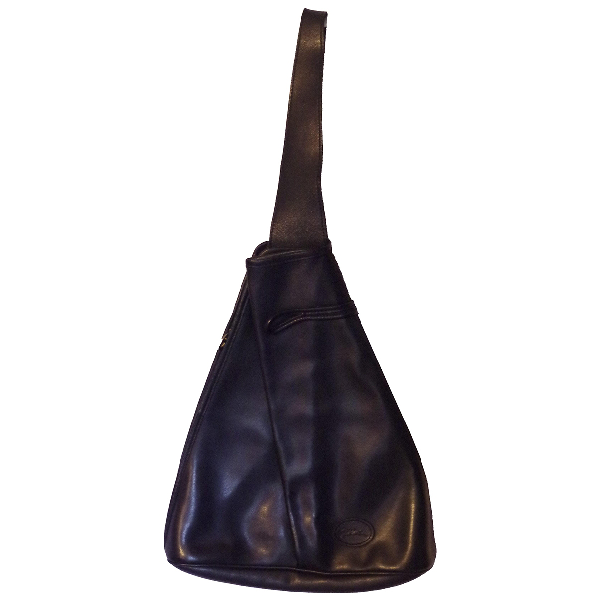 Longchamp Roseau Navy Leather Backpack