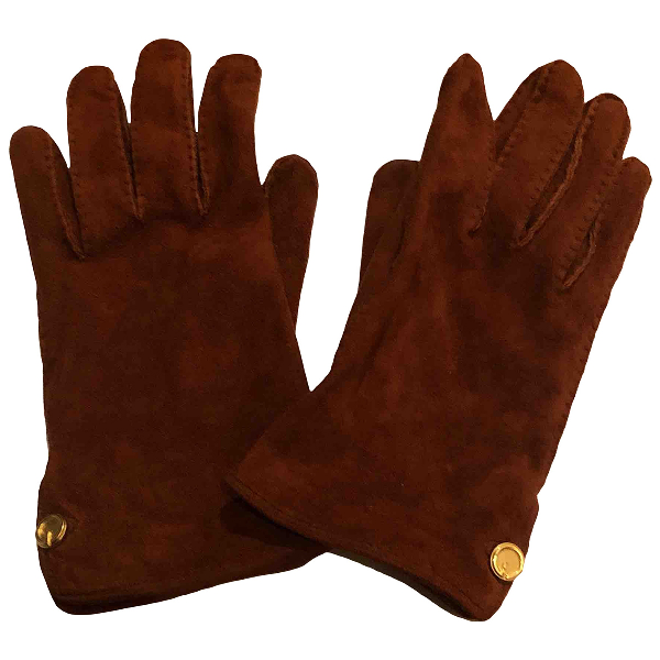 Gucci Camel Suede Gloves