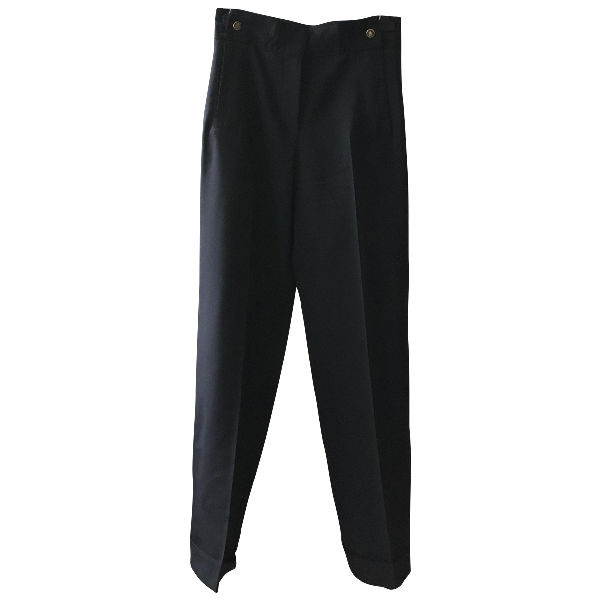 Pablo Navy Wool Trousers