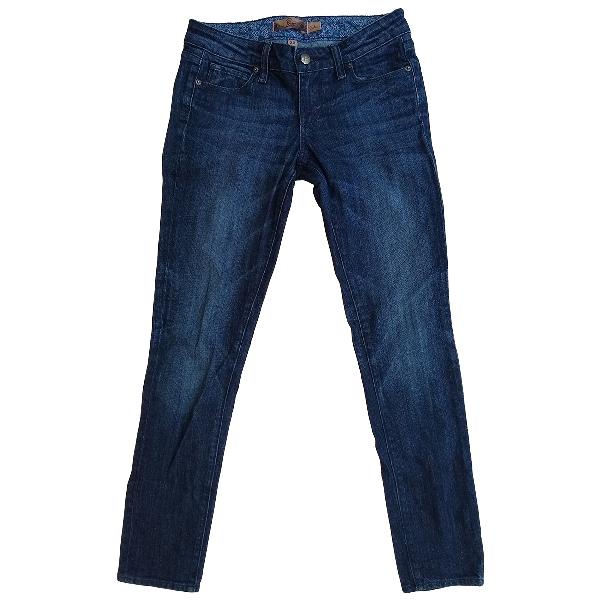 Paige Jeans Blue Cotton Jeans