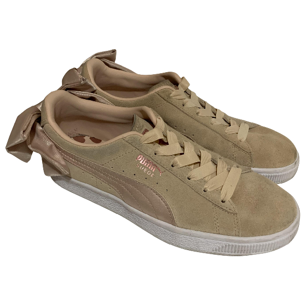 Puma Pink Suede Trainers