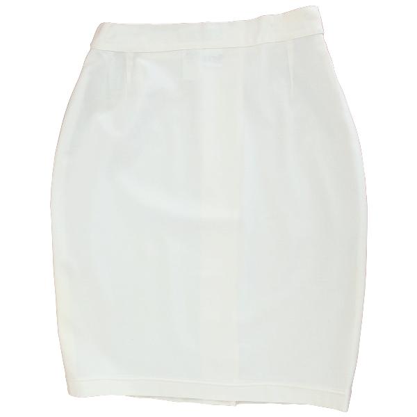 Max Mara White Wool Skirt
