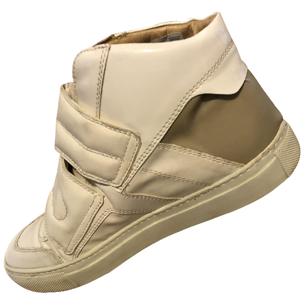 Mm6 Maison Margiela White Leather Trainers
