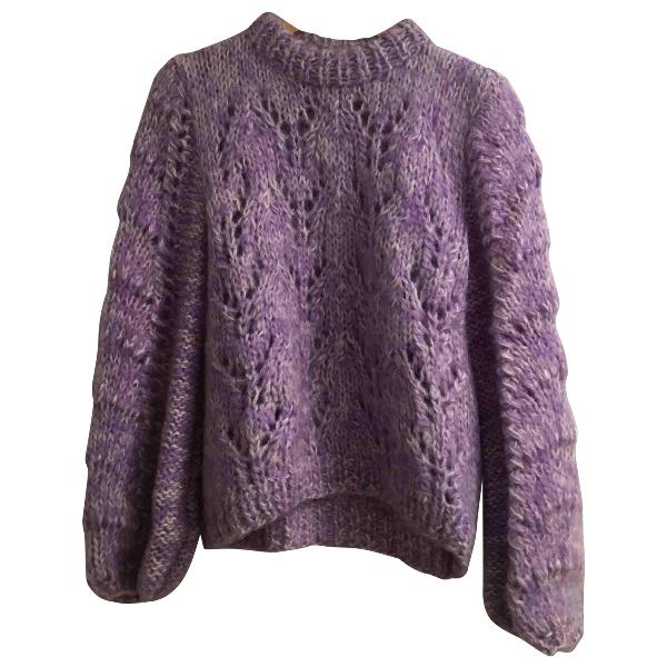 Ganni Purple Wool Knitwear
