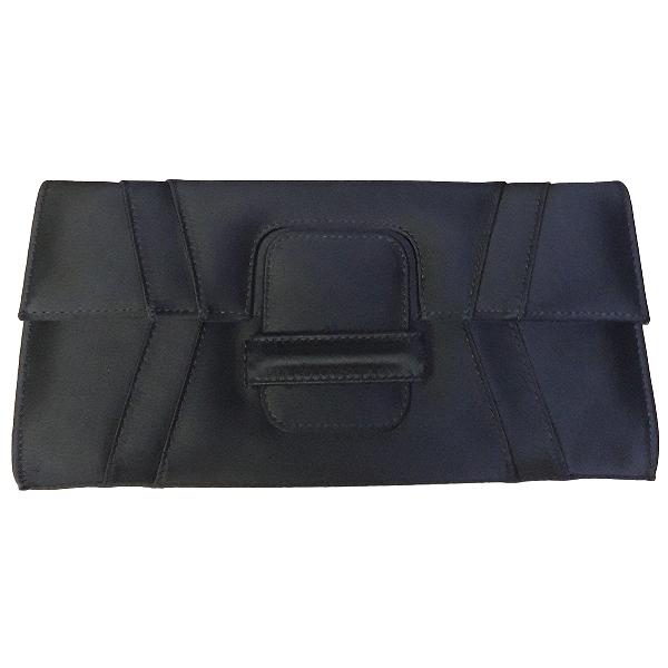 Elie Saab Black Cloth Clutch Bag