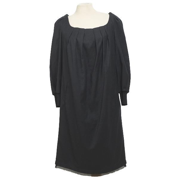 Costume National Black Wool Dress