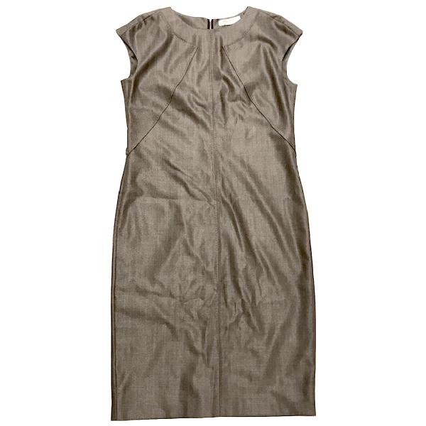 Max Mara Khaki Wool Dress