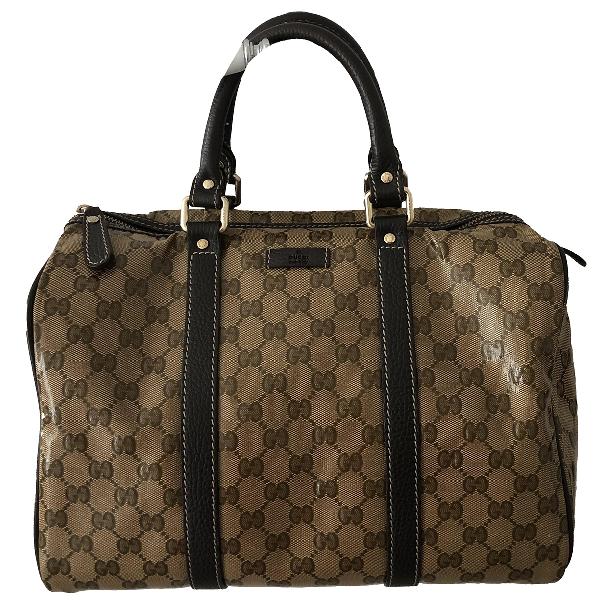 Gucci Boston Brown Cloth Handbag