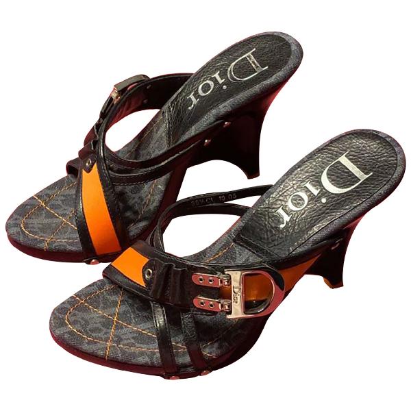 Dior Blue Leather Sandals