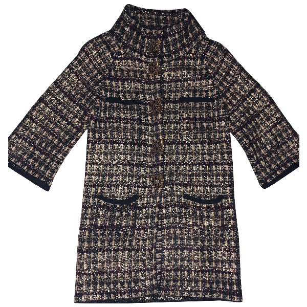 Chanel Burgundy Wool Coat