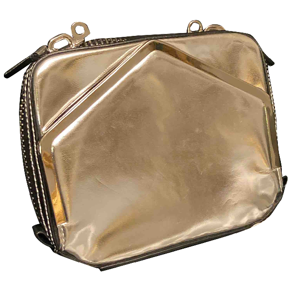Alexander Wang Silver Leather Clutch Bag