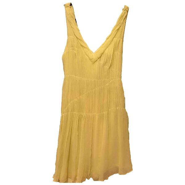 Vera Wang Yellow Silk Dress