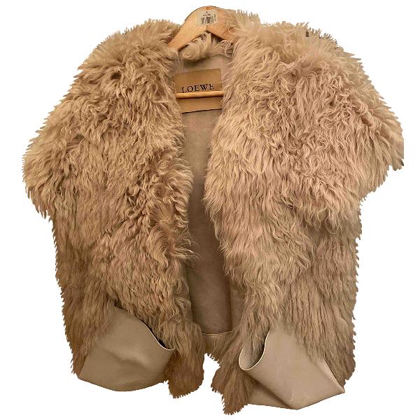 Loewe Beige Mongolian Lamb Coat