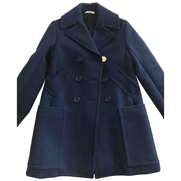 Celine Blue Wool Coat