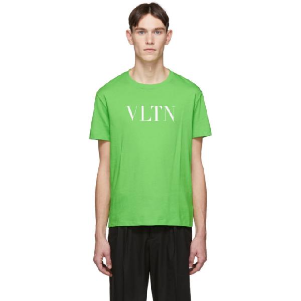 Valentino Green Cotton T-shirt In 23h Verdefl