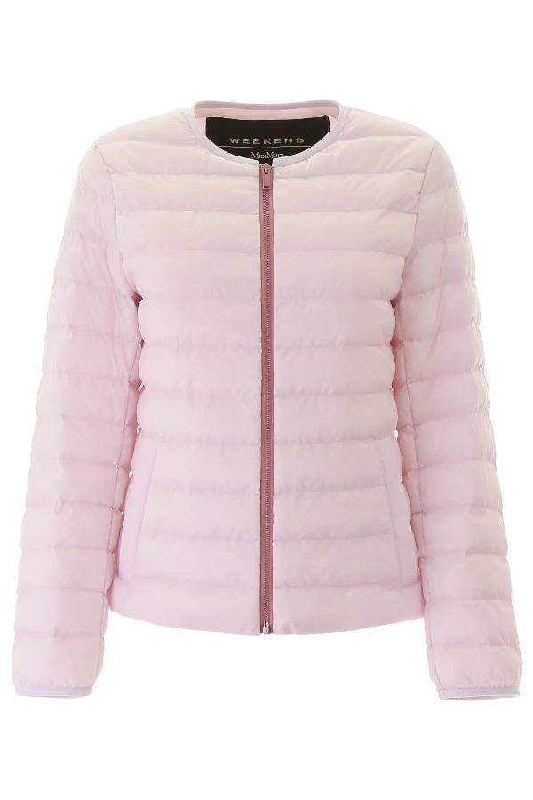 Weekend Max Mara Fiorire Puffer Jacket In Pink