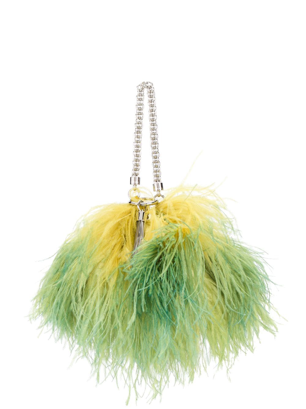 Jimmy Choo Callie Feather Tote In Green