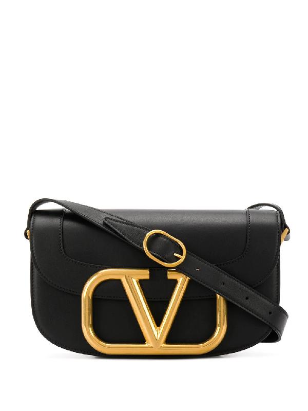 Valentino Garavani Black Garavani Vlogo Supervee Crossbody Bag