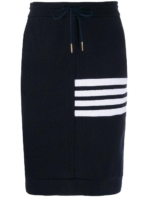Thom Browne Four Stripe Track Skirt In Blue