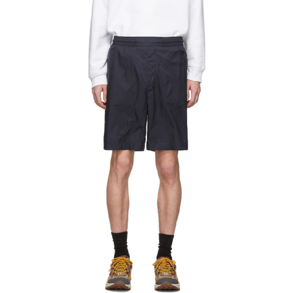 Acne Studios Ruben Ripstop Knee-length Shorts In Navy