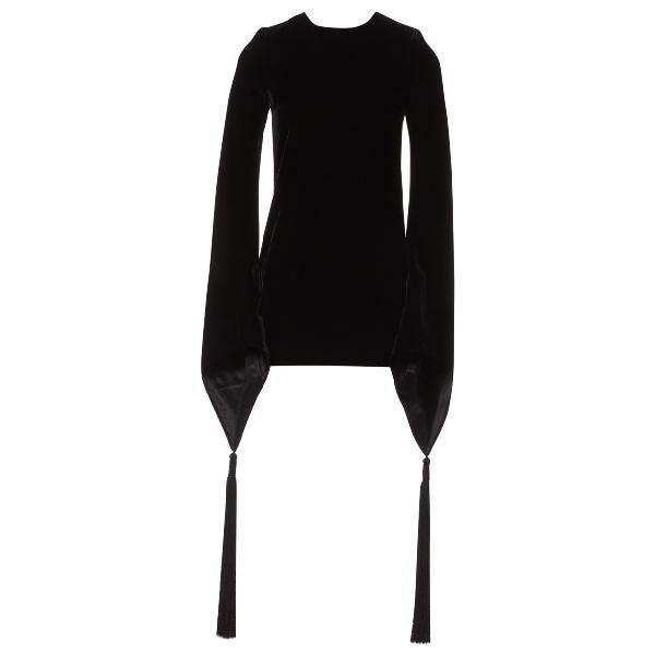 Saint Laurent Black Velvet Dress