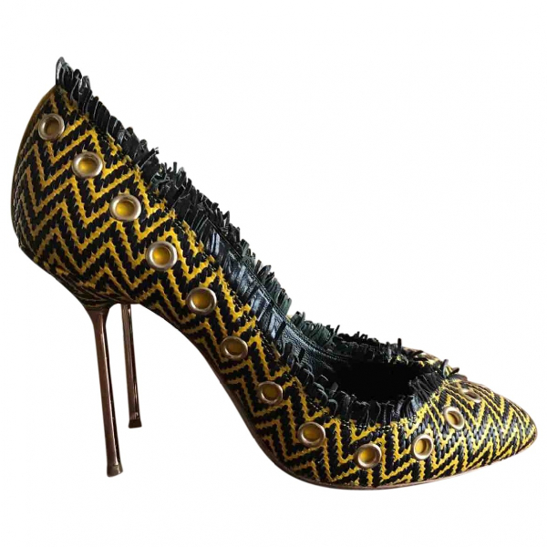 Daniele Michetti Yellow Leather Heels