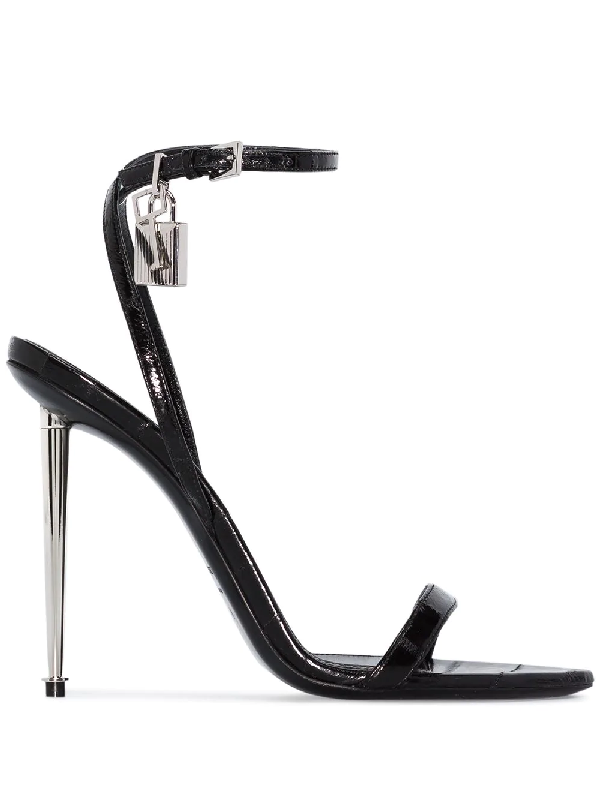 Tom Ford Padlock 105mm Sandals In Black