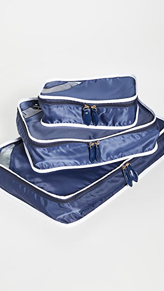 Paravel Packing Cube Trio In Scuba Blue
