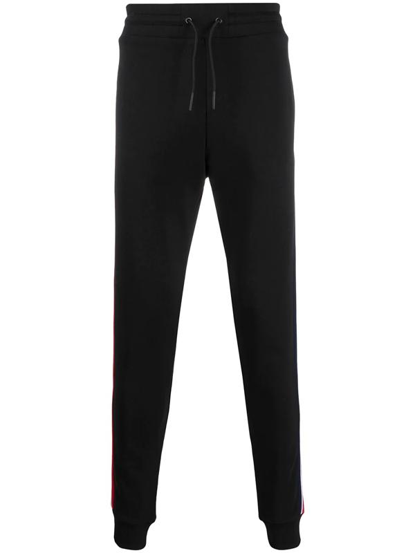 Rossignol Racer Stripe Tapered Track Pants In Black