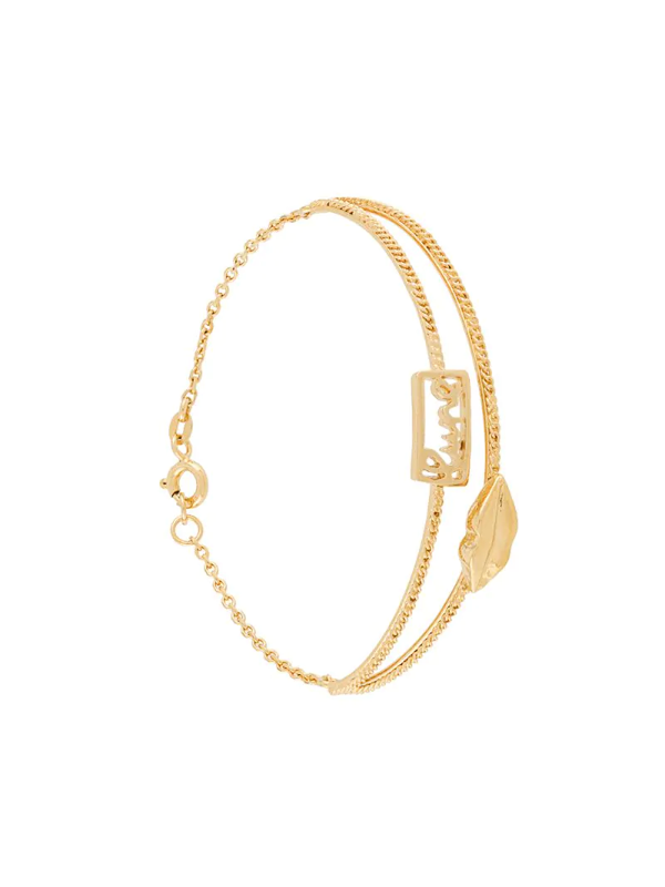 Wouters & Hendrix Mouth Chain-embellished Bracelet In Yellow