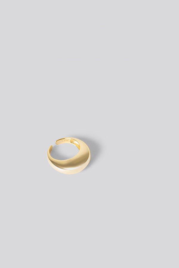Na-kd Gold Plated Chunky Ring Gold