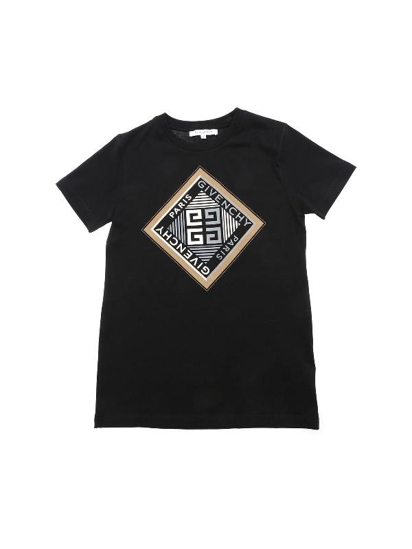 Givenchy Kids' 4g Logo Print T-shirt In Black
