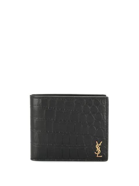 Saint Laurent Monogram East/west Black Leather Wallet