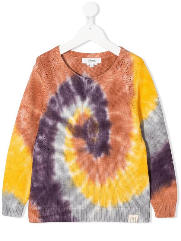 Bonpoint Kids' Tie-dye Print Sweatshirt In Brown