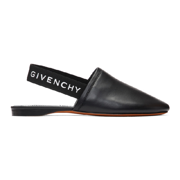 Givenchy Slip On Shoes Rivington Nappa Leather Logo Black In 008 Black