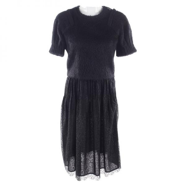 Wunderkind Black Wool Dress