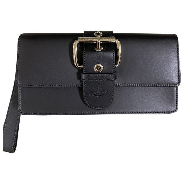 Vivienne Westwood Black Leather Small Bag, Wallet & Cases