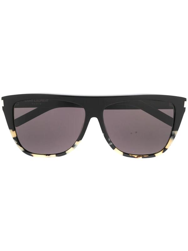 Saint Laurent Retro Sunglasses In Black