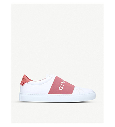 Givenchy Knot Elastic Leather Trainers In White/oth