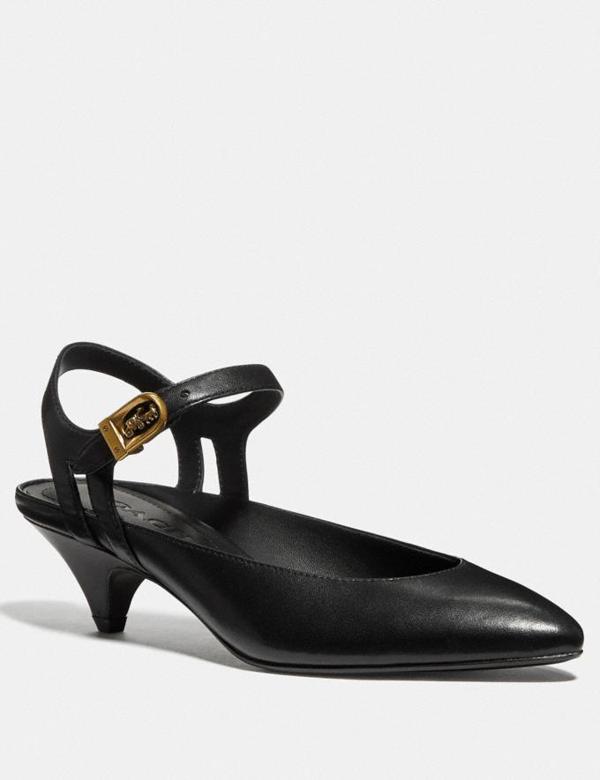 Coach Ankle Strap Heel - Women's In Black