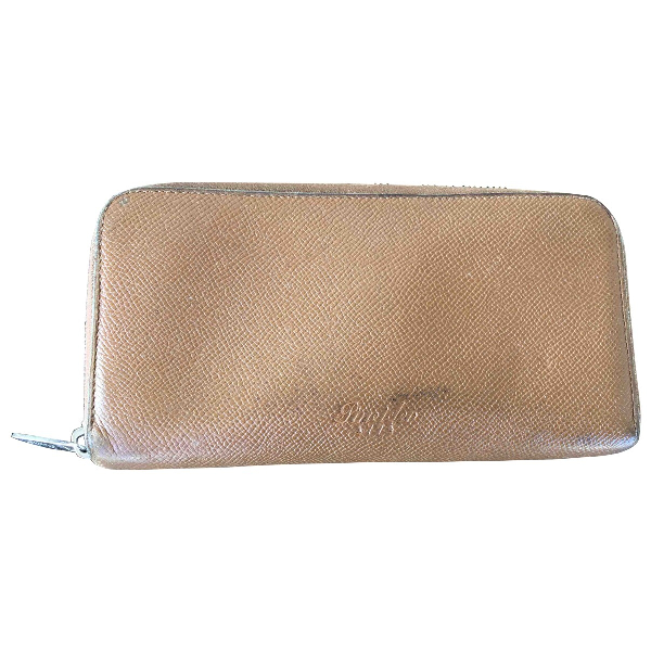 Pineider Camel Leather Wallet