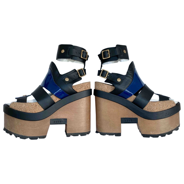 Pre-owned Sacai Multicolour Patent Leather Sandals